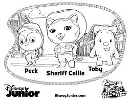 Disney Jr Valentine Coloring Pages Pdf Colouring Printable Nick Inside Sheriff Callie