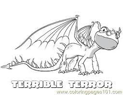 Terrible Terror Coloring Page