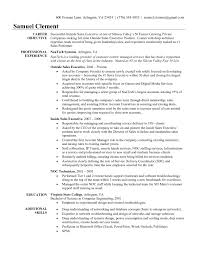 Resume Examples For Inside Sales At Sample Ideas