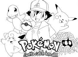 Pokemon Coloring Pages Pikachu Free Download