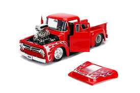 100 Just Trucks Amazoncom Jada 1956 Ford F100 Pickup Truck With Blower Glossy Red