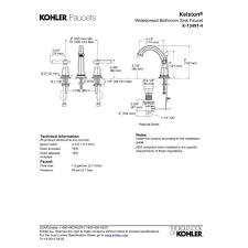 Kohler Kelston Faucet Manual by Kohler K 13491 4 Cp Kelston Polished Chrome Two Handle Widespread
