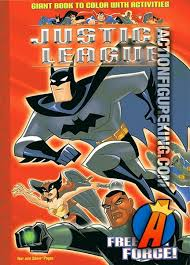 JusticeLeague Freedom Force Coloring Book Featuring Batman Hawkgirl GreenLantern And MartianManhunter