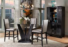 black counter height dining room set archstone by makelim black