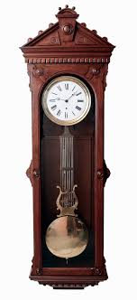 Large American Jewelers Regulator Wall Clock 8 Days Time Only Weight Driven Swiss Movement With Pinwheel Escapement And Gridiron Lyre Pendulum In A
