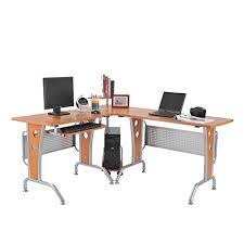 amazon com homcom 61 in modern l shaped office workstation