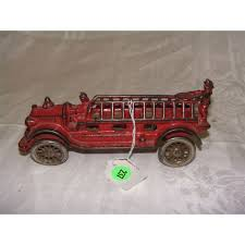 100 Antique Toy Fire Trucks 7 12 1920s Cast Iron Fire Truck Toy