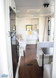 RV Makeover Pretty Simple Stuff White Painted Walls And Cabinets Gray Ceiling
