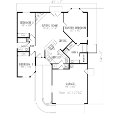 45 Ft Bathroom by Adobe Southwestern Style House Plan 3 Beds 2 00 Baths 1276 Sq