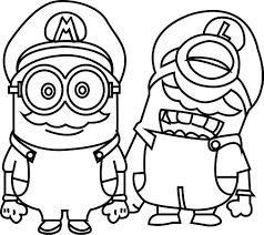 Minions Mario World Capa Para Coloring Page