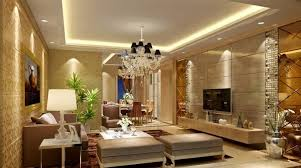 Room Luxury Living Interior With Pop Ceiling And Sofa Sets Decorating Ideas