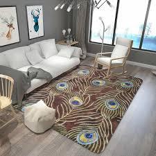 europäischen kunst pfau feder druck große teppich teppich