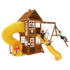 Cedar Summit Lewiston Retreat Wooden Playset-F24954 - The Home Depot Backyard Playsets Plastic Outdoor Fniture Design And Ideas Decorate Our Outdoor Playset Chickerson And Wickewa Pinterest The 10 Best Wooden Swing Sets Playsets Of 2017 Give Kids A Playset This Holiday Sears Exterior For Fiber Materials With For Toddlers Ever Emerson Amazoncom Ecr4kids Inoutdoor Buccaneer Boat With Pirate New Plastic Architecturenice Creative Little Tikes Indoor Use Home Decor Wood Set