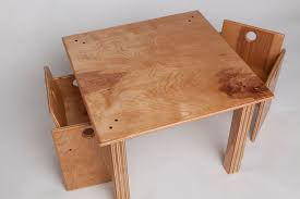 Custom Made Children's Wooden Table And Chair Set By Fast ...