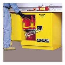 Flammable Safety Cabinet 45 Gal Yellow safe container to store flammable liquids 2 sylprotec