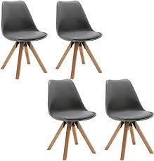 duhome 2er set stuhl esszimmerstühle küchenstühle farbauswahl mit holzbeinen sitzkissen esszimmerstuhl retro 518m farbe grau material stoff