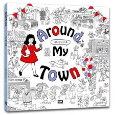 Around My Town Color Therapy Anti Stress Coloring Books For Adult Relaxation 64 Pages Cute Illustrated Colouring Book Kang Nyang