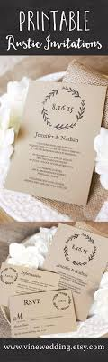 Free Printable Rustic Wedding Invitations Ideas Diy And For Your