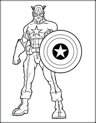 Stunning Ideas Captain America Coloring Pages Avengers Color Zini