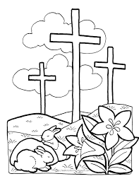 Free Letters From The Easter Bunny And Coloring Pages In With Cross