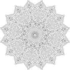 Lovers Dance Mandala Coloring Page By Varda K