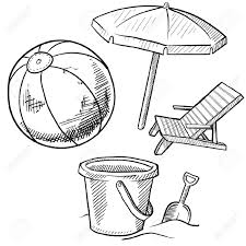 Beach Items Coloring Pages Chair Page Set