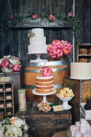 Naked Cake On A Rustic Dessert Bar Earlyivy