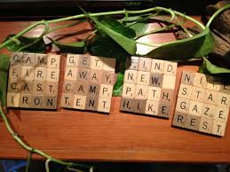 upcycled scrabble coasters set of 4 for cing hiking and