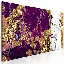 vlies leinwand bilder abstrakt gold lila bunt wandbilder wohnzimmer 5 farbe