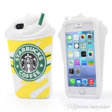 New Cute 3d Cartoon Case Cover Starbucks Unique Style Soft