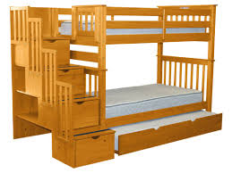 Pet Stairs For Tall Beds by Bedz King Stairway Tall Twin Over Twin Bunk Bed With Trundle