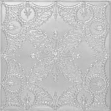 Ceiling Tiles Home Depot by Shanko 2 Ft X 2 Ft Lay In Suspended Grid Tin Ceiling Tile In