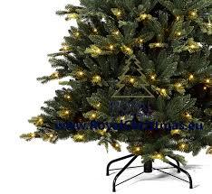 7ft Pre Lit Christmas Tree by Artificial Christmas Tree Michigan Pe Pvc Premium With Led
