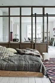 Good Size Window Pane And Love Sliding Door Modern Rustic Loft Living Wood Platform Bed Glass Partition Barn Style