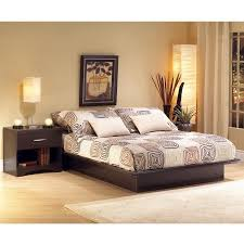 south shore step one queen platform bed 60 chocolate