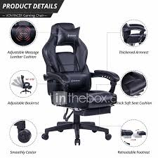 VON RACER Massage Reclining Gaming Chair - Ergonomic High-Back ... Lecture Hall Chairs Waiting Sofas Conference And Office Seating Ergonomic Gaming Chair Shop For High Back Computer Design Comfort Black Vinyl Stackable Steel Side Reception With Arms Cheap Office Waiting Room Chairs Find Raynor Bodyflex Guest Set Of Two Lebanon Comfortable Top 2017 Hille Se Skid Base Classroom With Wooden Seat Three Ergonomic Empty In The Room A Modern Thigpen Mesh Task