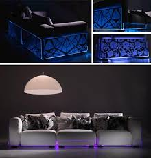 led sectionals living room sofas built in mood lighting
