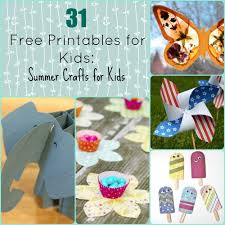 31 Free Printables For Kids Summer Crafts