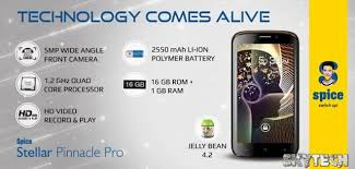 Spice Mi 535 Stellar Pinnacle Pro launched features a Quad core processor and 5 3