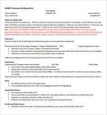 internship resume template 11 free sles exles psd