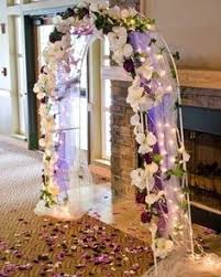 Draped Wedding Arch with lights wedding ideas Pinterest