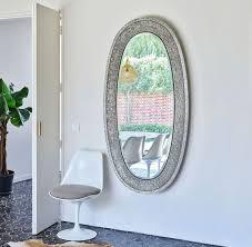 casa padrino luxus spiegel silber 89 x 5 x h 170 cm eleganter ovaler wandspiegel garderoben spiegel wohnzimmer spiegel luxus deko accessoires
