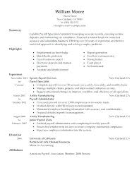 Payroll Accountant Resume Administrator Rh Llun Info Accounting Examples Summary