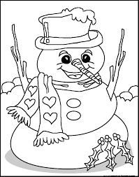 Snowman Free Colorings Pages Printable For Kids