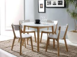 Best Modern White Round Dining Table Set For 4 Seater Dinin
