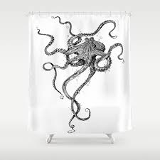 Octopus Shower Curtain by taojb