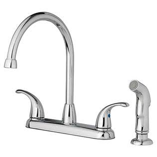 Homewerks Worldwide Import 239963 Home Pointe 2 Lever Kitch Faucet - Chrome