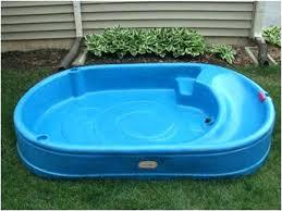 Kiddie Pool Hard Plastic With Slide New Little Blue Sprinkler Pools Amazon