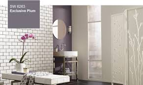 Colors For A Bathroom Wall by Sherwin Williams 2014 Color Of The Year Exclusive Plum