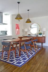 Image Of Blue Rug For Dining Table